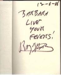 книжка с автографом  Рэя Бредбери