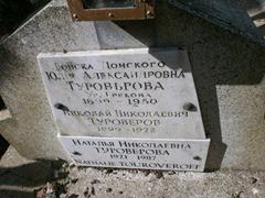 Надгробие на могиле Н. Туроверова, его жены и дочери