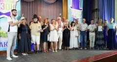 Лауреаты фестиваля и жюри на сцене клуба санатория «Полтава-Крым»